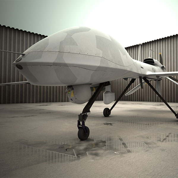 Large military drone